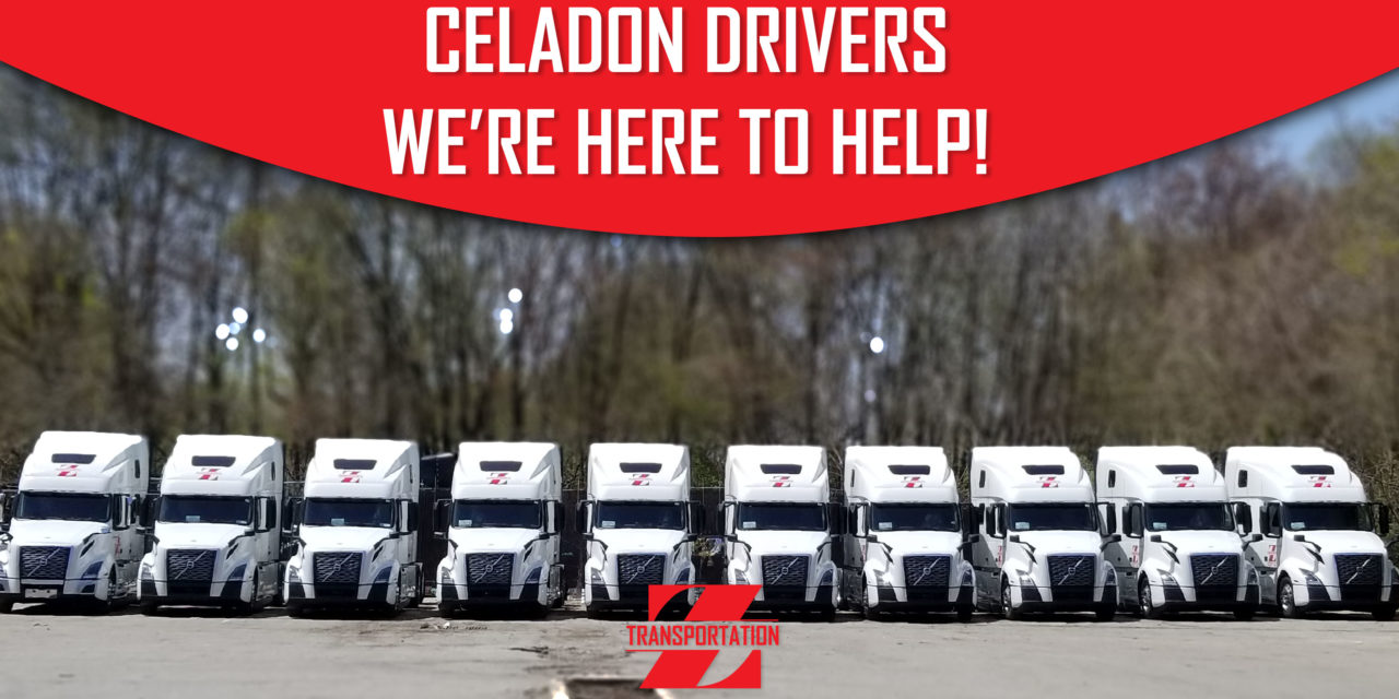 CELADON DRIVERS WE'RE HERE TO HELP!