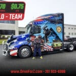 Z Transportation showing respect to our Veterans – with custom designed wrapped Veteran Trucks