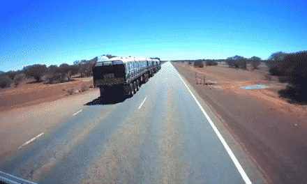 VIDEO: 72-Wheel Semi Truck Seems to go on FOREVER!