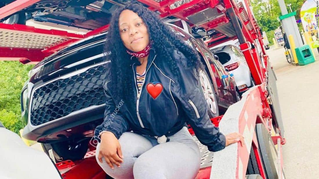 Tierra Allen talks about her experiences on the road and inspires other women to consider a career in trucking.