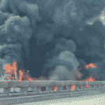 Louisiana I-10 is closed due to a huge truck fire.